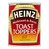Heinz Toast Toppers Mushroom & Bacon 128g (Pack of 3)