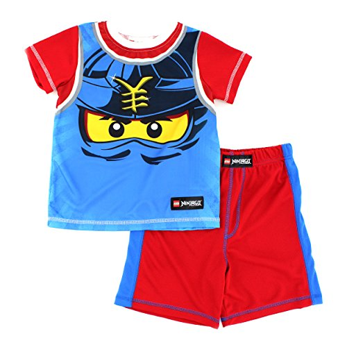 [Lego Ninjago Boys Poly Shorts Pajamas (8, Ultimate Ninja Red)] (Lego Ninja Costume)