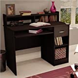 Home Office Small Computer Desk in Chocolate Finish