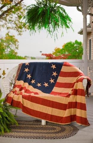 Check Out This Old Glory 50 X 60 Woven Patriotic American Flag Throw Quilt