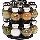 Kamenstein Ellington 16-Jar Spice Rack with Free Spice Refills for 5 Years