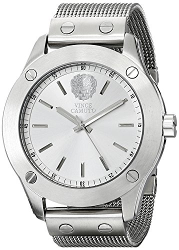 Vince Camuto VC/5225SVSV - Reloj para mujeres, correa de acero inoxidable color plateado