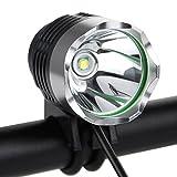 防水充電LED自転車ヘッドライト 超高輝度LED CREE XM-LT6 自転車ライト+ヘッドライト2in1機能! サイクルヘッドライト 最大1200ルーメン 3 段階調整可能 航空アルミ合金材質 6x18650バッテリーと充電器付き アウトド... ランキングお取り寄せ