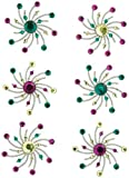 Karen Foster Design, Scrapbooking and Craft Embellishment, Swirl Burst Brads, Sprinkles