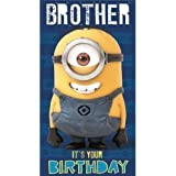 Despicable Me Minion Brother Happy Birthday Card