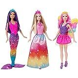 Barbie Fairytale 3 Doll Gift Set , Multi Color