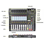 ammoon CT80S-USB 8 Channel Digtal Mic Line Audio Mixing Mixer Console with 48V Phantom Power for Recording DJ Stage Karaoke Music Appreciation from ammoon