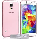 Yousave Accessories Samsung Galaxy S5 H�lle Rosa Ultrad�nne Silikon Gel Schutzh�lle