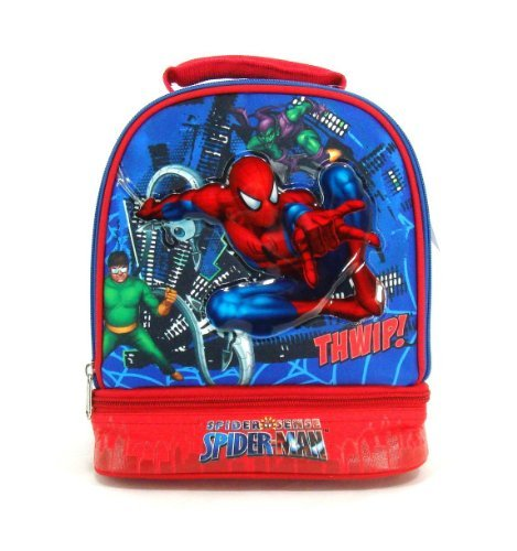 Marvel Spiderman Double Compartment Insulated Lunch Tote - Spidy Vs. Doc Oct - 1