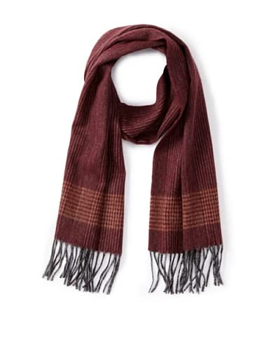 a & R Cashmere Women's Waterweave Cashmere Check Scarf, Merlot As You See