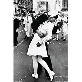 Kissing On V-J Day New York City Nyc 1945 24X36 Poster