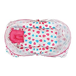 Orange and Orchid Baby mosquito net bed Cum Sleeping Bag,Bed For Just Born