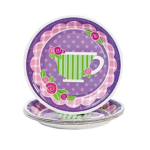 Girly Tea Party Dessert Plates (8 pc)