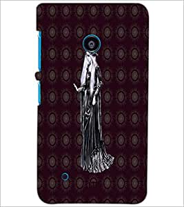 PrintDhaba Cute Girl D-3231 Back Case Cover for NOKIA LUMIA 530 (Multi-Coloured)