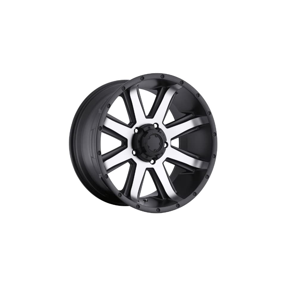 Ultra Crusher 15 Machined Black Wheel / Rim 5x4.5 with a  19mm Offset and a 82 Hub Bore. Partnumber 195 5865U
