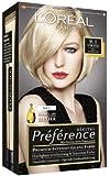 L'Oréal Paris Préférence Coloration Hellaschblond 9.1, 3er Pack (3 x 1 Colorationsset)
