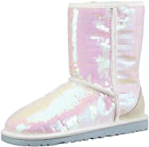 Hot Sale UGG Women's Sparkles I Do Boot (White Sequins 7.0 M)