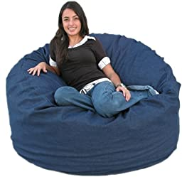 Cozy Sack 4-Feet Bean Bag Chair, Large, Denim