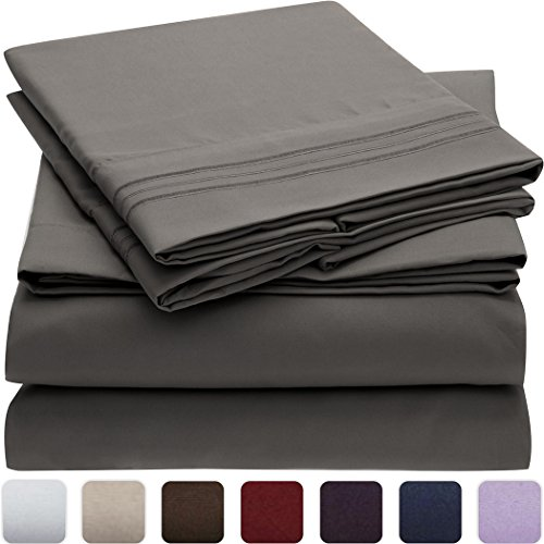 Fantastic Deal! Mellanni Bed Sheet Set - HIGHEST QUALITY Brushed Microfiber 1800 Bedding - Wrinkle, ...