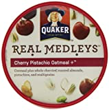 Quaker Real Medleys Cherry Pistachio Oatmeal +,  (Pack of 12)