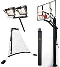 Goalrilla GL RGSIII 54quot Basketball System with Pole PadBall Return Net and Deluxe Hoop Light