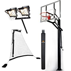Goalrilla GLR GSIII 54 Basketball System with Pole Pad,Ball Return Net and Deluxe... by Goalrilla