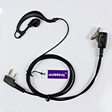 buy Abcgoodefg 2-Pin G Shape Earpiece Headset For Kenwood Tk Puxing Wouxun Baofeng Two Way Radio 2Pin