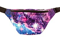 KANDYPACK Galaxy Fanny Pack with Hidden Pocket Perfect for Raves and Festivals
