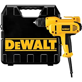 DEWALT DWD115K  8 Amp 3/8-Inch VSR Mid-Handle Grip Drill Kit with Keyless Chuck