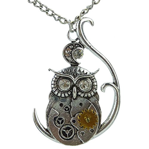 Chiou-Animal-Owl-Moon-Steampunk-Steam-Punk-Dangle-Pendant-Owl-Necklace-Fashion-Jewelry