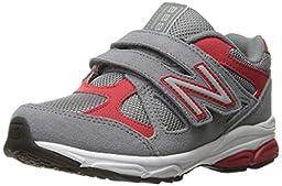 New Balance KV888V1 Pre Running Shoe (Little Kid), Grey/Red, 11.5 E US Little Kid