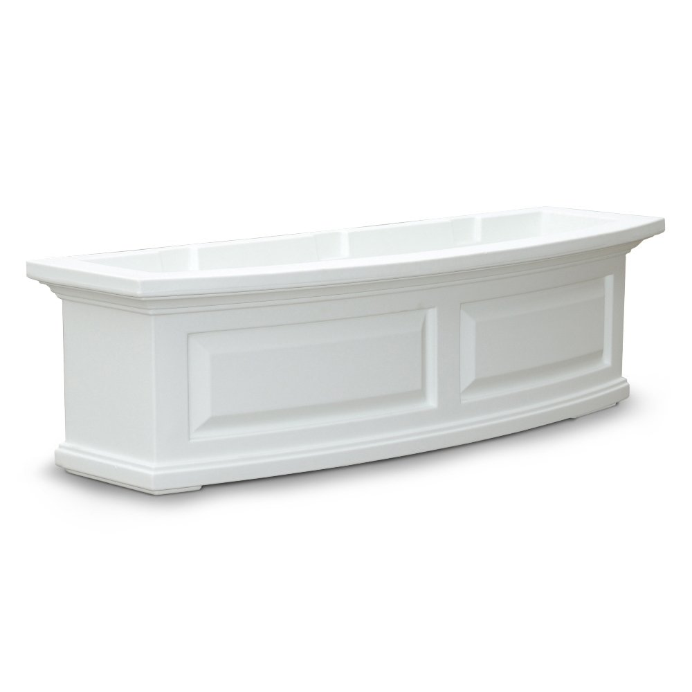 Mayne 4830W Nantucket Window Box, White, 3-Feet