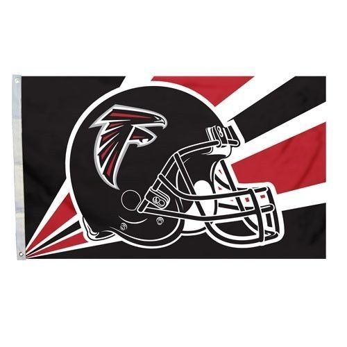 NFL Atlanta Falcons 3-by-5 Foot Helmet Design Flag with Grommets