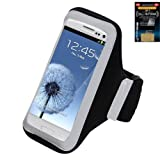 Premium Sport Armband Runner/ Running Case Pouch For Samsung Galaxy Exhibit 4G/ S6/ S5/ S5 Active, LG G3, IPhone...