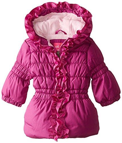 Pink Platinum Baby Girls' Grosgrain Detail Puffer, Plum, 18 Months (Details Coats compare prices)