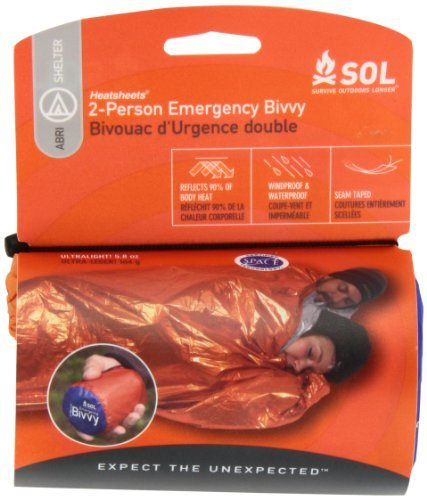 Adventure Medical Kits Sol Two Person Emergency Bivvy Blanket Full Protection: Sealed On The Sides For Full Protection From Rain, Wind, And Snow. Legendary Durability: Heatsheets?? Material Is Waterproof And Windproof. Stay Warm: Reflects 90% Of Radiated