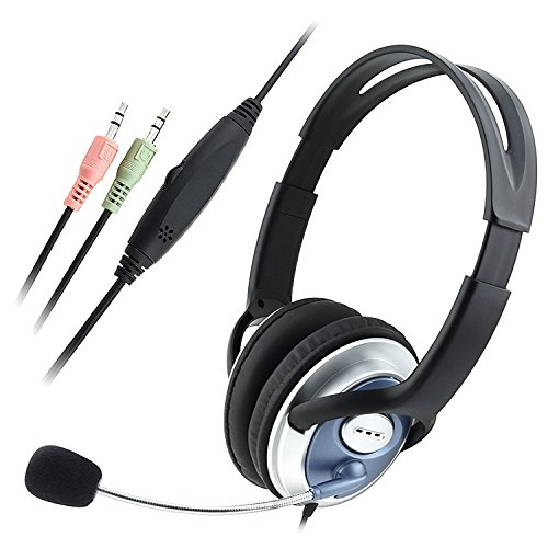 Eforcity® Pc Computer Headphone Headset Microphone For Msn Skype