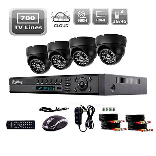 Liview® 700Tvl Indoor Day/Night Security Camera And 4Ch Hdmi 960H Network Dvr System front-726715