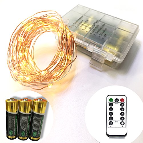 led string lights battery operated with remote timing. Black Bedroom Furniture Sets. Home Design Ideas