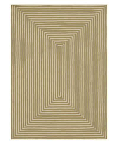 Loloi Rugs Stripes Indoor/Outdoor Rug, Yellow, 7' 6 x 9' 6