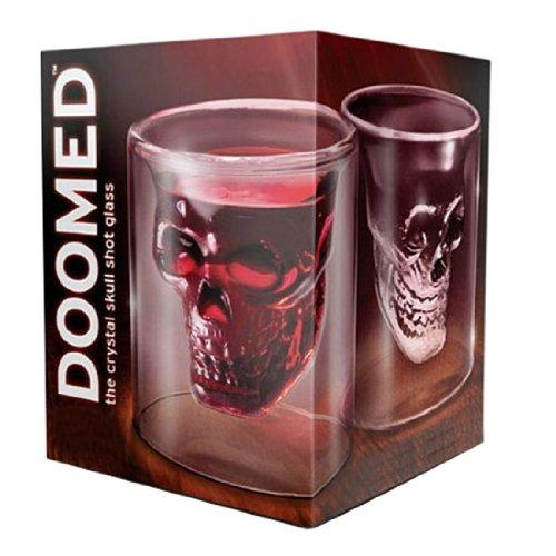 Doomed Crystal Skull Head Shape Vodka Wine Shot Glass Drinking Ware Cup