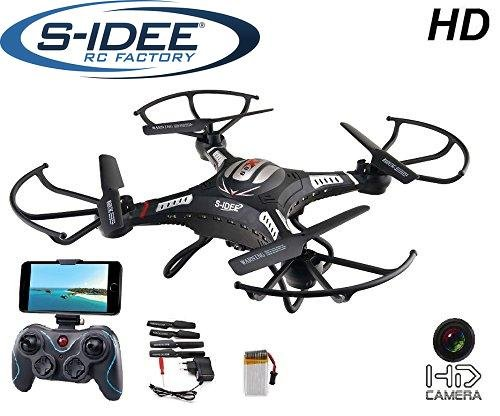 s-idee-01540-Quadrocopter-S183W-HD-KAMERA-WIFI-45-Kanal-24-Ghz-Drohne-mit-Gyroscope-Technik-DROHNE-MIT-WIFI-FPV-Drohne-HD-Kamera-One-Key-Return-Coming-Home-Funktion