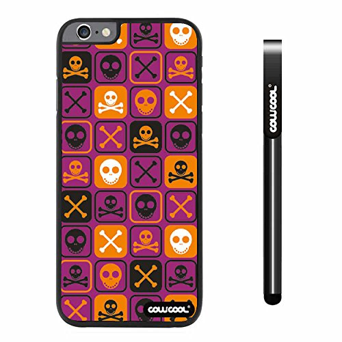 CowCool® Apple Iphone 6 Plus 5.5 Inch Case Hard PC Cross matrix cute Skull With Black Shell Single Layer Protective Case (Purple)