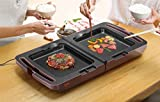キッチン家電 平面/ディンプル/たこ焼き お手入れ簡単 両面ホットプレート メタリックローズ
