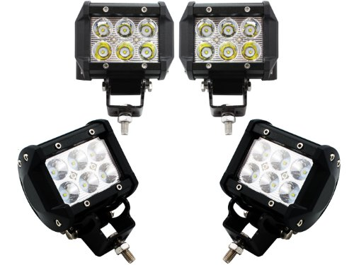 TMS® 4 X 18w 1260lm Cree Spot Led Work Light Bar for Off-road SUV Boat 4x4 Jeep Lamp 4wd