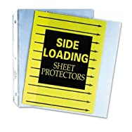 Side Loading Polypropylene Sheet Protector, Clear, 11 x 8 1/2, 50/BX