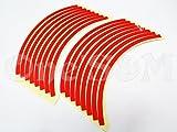 J-137 ホイール リムラインステッカー 10インチ 赤 ライブディオZX スーパーディオ ディオZX ディオSR モンキー ゴリラ ズーマー ジョグZ スーパージョグZR セピアZZ レッツ アドレスV125G