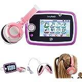 Ultimate Addons - Kit de DJ para niña. Incluye cascos para tablet Leafrong Leapad modelos 1, 2, 3, Power, Ultra y Xdi. Color rosa