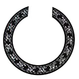 Kmise Soundhole Rosette Decal Sticker for Acoustic Classical Guitar Parts Black with Chrome Pattern