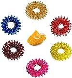 Acupressure Massage Sujok Ring in Assorted Colors Set of 4 pcs